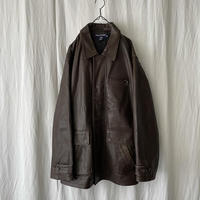 """"""" POLO SPORT """" Leather Jacket with Qulting Liner"""