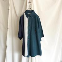 "80-90′s "" Bugle Boy Company "" Ramie × Cotton Design Shirts"