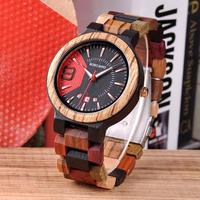 【BOBO BIRD】日付表示 ビジネスウォッチ 木製 クォーツ腕時計木製木製腕時計 クォーツ 自然に優しい天然木
