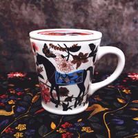 新品送料込 マグカップ 蓋付 セラミック 食器 馬と花 フレンチスタイル 海外 高級 おしゃれ お茶 コーヒー ココア