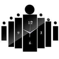 新品送料込★ 時計 壁掛け 3D 鏡 ミラー デザイナーズ 北欧モダン DIY お洒落 面白 輸入雑貨 インテリア 高性能