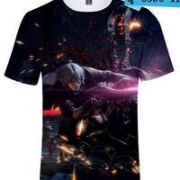 デビルメイクライ5 3Dデザイン Tシャツ  ユニセックス ゲームグッズ dmc devil may cry