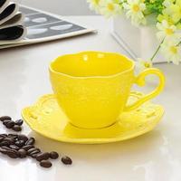 新品送料込 ティーカップ 200ml ソーサー スプーン 3点セット カラフル 磁器 コーヒー お茶会に 食器 高級装飾 贈り物