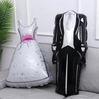 デコレーション風船 新郎新婦 ウェディングドレス 飾り 結婚式 二次会 イベント パーティ ふうせん バルーン ヘリウム