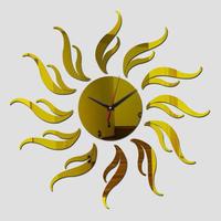 新品送料込★ 時計 壁掛け 3D 鏡 ミラー 太陽 デザイナーズ 北欧モダン DIY お洒落 面白 輸入雑貨 インテリア 高性能