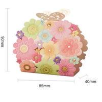 新品送料込 ギフトボックス 50個セット 花柄 がま口デザイン バレンタイン お誕生日会 結婚式 ラッピング プレゼント