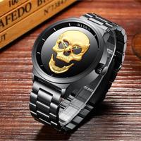 BIDEN 2カラー展開 クォーツ時計 スカルダイヤル メンズファッション時計