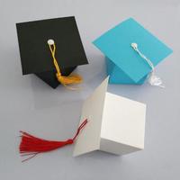 新品送料込 ギフトボックス 50個セット 卒業帽子デザイン バレンタイン お誕生日会 結婚式 ラッピング プレゼント