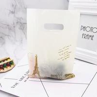 新品送料込 ギフトバッグ 手提げ袋 100枚セット パリ風景 塔 バレンタイン お誕生日会 結婚式 ラッピング プレゼント