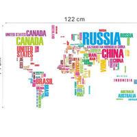 ウォールステッカー 世界地図 カラフル アルファベット お洒落シール DIY キッチン 寝室 リビング トイレ 子供部屋
