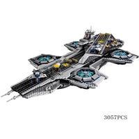 レゴLEGO76042互換品 マーベルスーパーヒーロー ザシールドヘリキャリア 07043 3057ピース LEGO互換