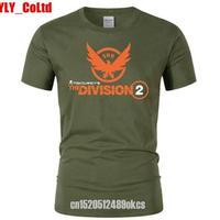 ディビジョン2 デザイン Tシャツ 深緑 半袖 ユニセックス ゲームグッズ Dvision2