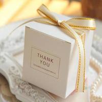 新品送料込 ギフトボックス 50個セット サンキューロゴ リボン バレンタイン お誕生日会 結婚式 ラッピング プレゼント