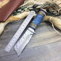 新EDCツールダマスカスフォージ手作りのナイフユーティリティ戦術狩猟 ナイフアウトドアキャンプ ナイフマルチ