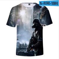ディビジョン2グッズ 3Dデザイン Tシャツ 半袖 ユニセックス Dvision2