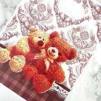 新品送料込 ギフトバッグ 手提げ袋 100枚セット テディベア くま バレンタイン お誕生日会 結婚式 ラッピング プレゼント