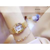 bee sister 2色展開 防水 スクエアダイヤモンド ダイヤルトップ ブランドの高級女性腕時計 クォーツ