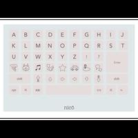 キーボード アルファベット 色つき
