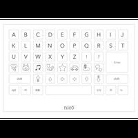 キーボード アルファベット ぬり絵