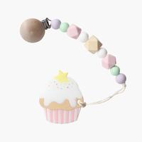 ギフトセット【カップケーキ歯固め × マシュマロホルダー】  ピンク