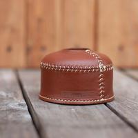 【受注生産】What Will be Will Be /レザー ODガス缶カバー vintage brown(小:110サイズ)〔受注生産品〕