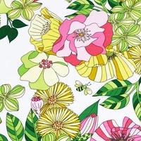 Joy - 至福の時/花 (White) ※50cm x 50cm