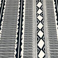 手書きの幾何学ストライプ/Navy ※50cm x 50cm