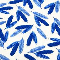 Feathers (青) ※15cm x 15cm