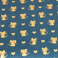 金色ネズミ/Teal Blue     ※15cm x 15cm