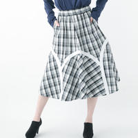 Check Skirt (WHITE , NAVY)