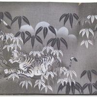 027GL-GWK-B 和調柄 竹と虎 (御朱印帳約16cmx11.5cm対応)
