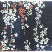 056BL-GWM-A 和柄調 しだれ桜 (御朱印帳約16cmx11.5cm対応)