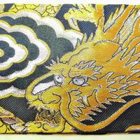010BK-GWK-A 金襴 金竜 黒(金龍) (御朱印帳約16cmx11.5cm対応)