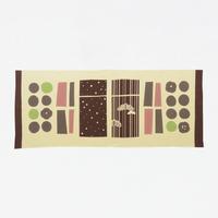 手ぬぐい|日本茶と和菓子の詰め合わせ カラシ