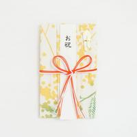 注染はんかち祝儀袋|tenugui bouquetミモザ〔花結び〕