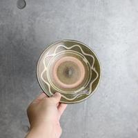 【北窯 松田米司工房】イッチン波紋 5寸皿②