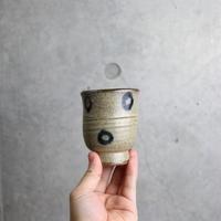 やちむん 【北窯 宮城正享工房】呉須輪紋 ワインカップ①