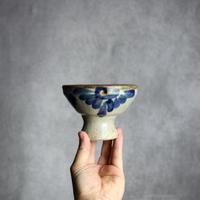 7005048 【北窯 宮城正享】呉須唐草 デザート鉢(大)