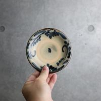 【北窯 宮城正享工房】呉須菊紋唐草 4寸皿③
