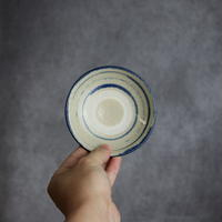 7004003 【北窯 松田共司工房】 呉須輪紋 3.5寸皿②