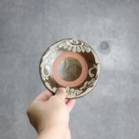 7005002 【北窯 宮城正享工房】イッチン唐草 4寸皿⑤