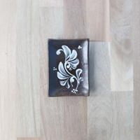 【陶眞窯】長角皿(口8.5×12) 白いっちん