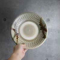 【北窯 松田米司工房】飛鉋三彩逆流 8寸皿③