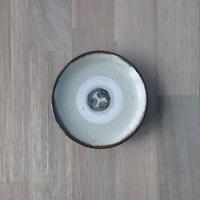 【北窯 松田共司工房】3.5寸皿 線彫り三つ巴①