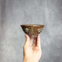 7004019 【北窯 松田共司工房】 イッチン印花 3.5寸マカイ①
