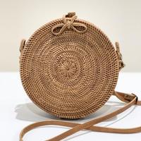 【再販】ラウンドショルダーバッグ シンプル編み