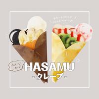 メッセージカード HASAMU/クレープ
