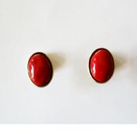 七宝ellipse_  red pierce / earring