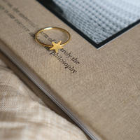 【nikori】 star-ring  gold(10号)