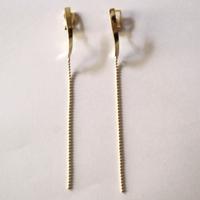 twist chain _  gold pierce / earring